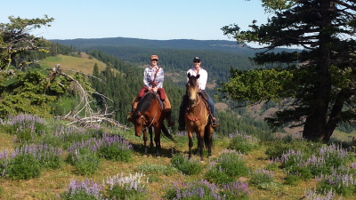 Great View, Great Rides, Great Riding Partner (Karen & Shannon)